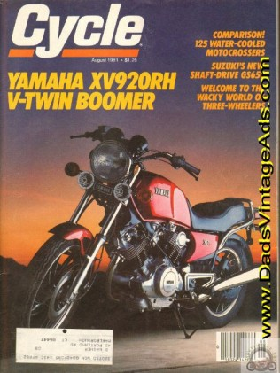 This meant war. Japan's first V-twin begat the Virago, which begat all the others. Image courtesy of dadsvintageads.com