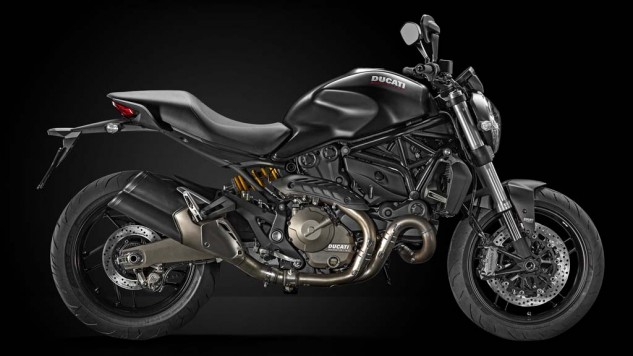 There's also a Monster 821 Dark that retails for $500 less ($10,995) than the red model.