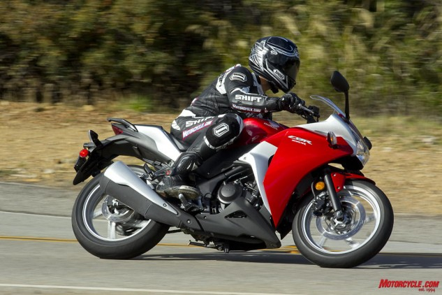Beginner bikes can still be fun for experienced riders, as the CBR250R is plenty capable of cutting up a twisty road.