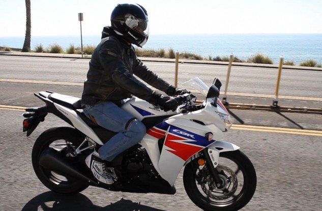 The Honda CBR250R may be inspired by its 600 and 1000 CBR siblings, but its riding position is not nearly as aggressive and suits new, or newer, riders well.