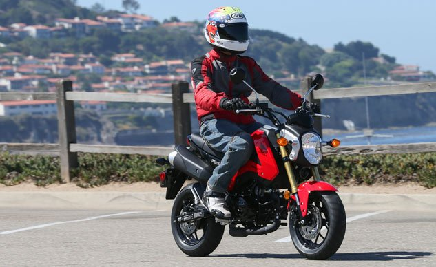 With all the controls of a big bike, but with half the size, the Honda Grom must be the least intimidating motorcycle to learn on.