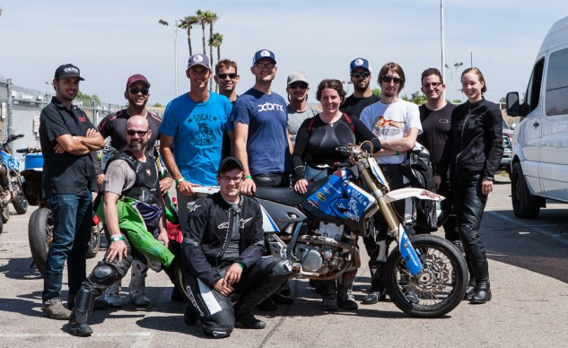 If you're in Southern California and want to learn how to ride Supermoto, give Brian Murray (in the light blue shirt) a shout.