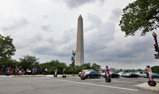 Traffic, roundabouts and Segway tourists. Negotiating D.C. traffic is half of the adventure.