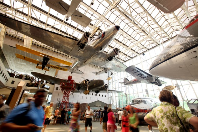 One of the most popular of the Smithsonian Museums on the National Mall the National Air and Space Museum hosted seven million visitors in 2013.