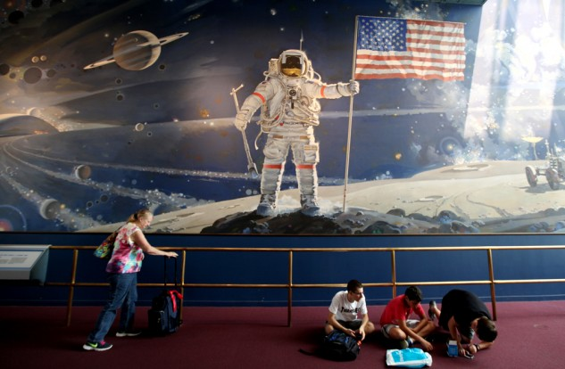The Air and Space Museum tracks the history of aviation from Da Vinci's drawings of flying machines through modern day space exploration.