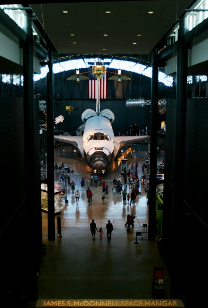 The Udvar-Hazy Center. Where the National Air and Space Museum keeps the big stuff, like the Space Shuttle Discovery.