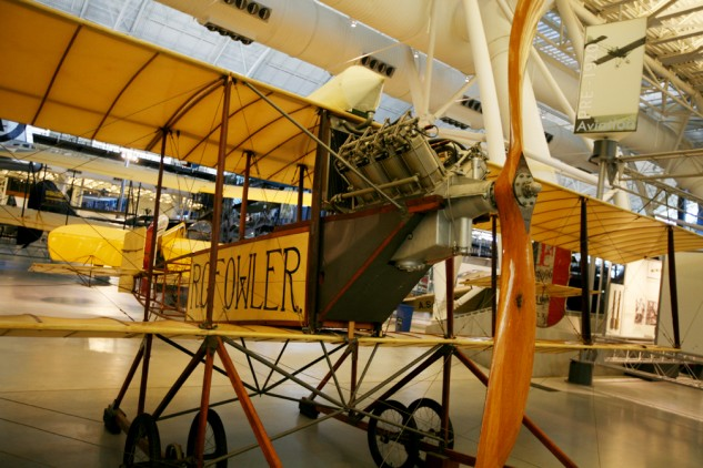 Both early motorcyclists and aviators pushed the boundaries of speed and endurance. This Gage biplane was used by Robert Fowler to fly across Panama from ocean to ocean in 1913.