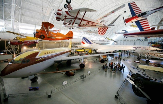 Airlines and acrobatic planes pack the halls of the Udvar-Hazy Center.