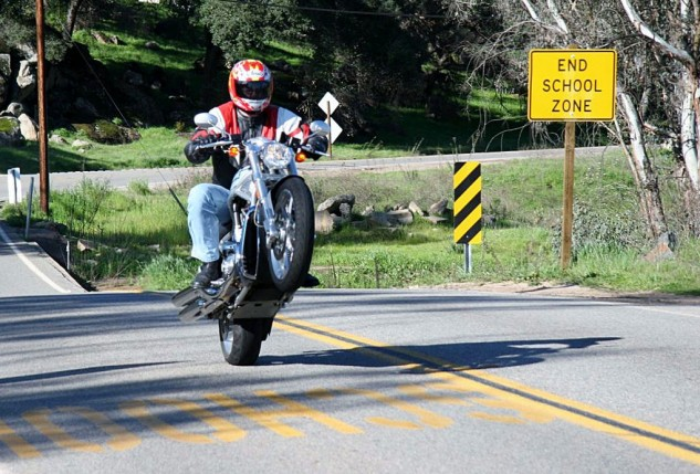 MO was also at the various V-Rod press intros, but we only spent about two seconds trying to wheelie one; this was the result. Sorry Howard! MO's biggest-cheese, Sean Alexander back in his days of playing editor.