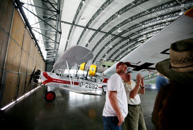 The aircraft in the Military Aviation Museum sit wing-to-wing in the hangars allowing visitors to get up close and personal.