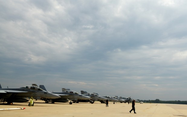 Photo by Holly MarcusF/A-18E Super Hornets ready for launch.