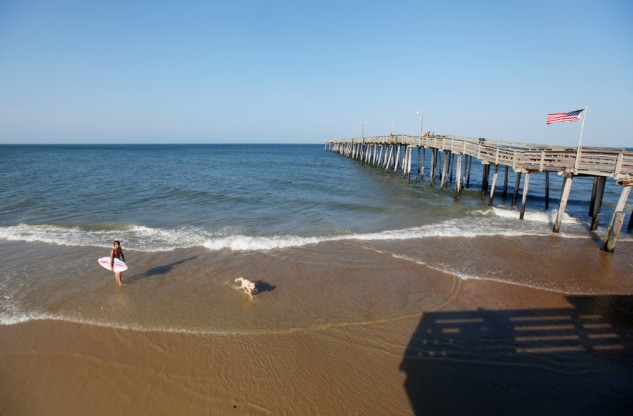 The Nags Head Pier at the Outer Banks.