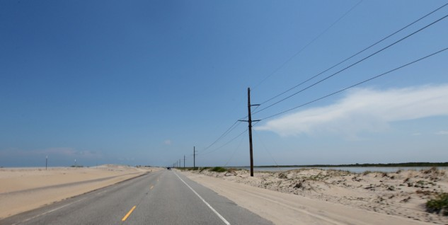North Carolina 12 cuts down Hatteras Island for 70 miles of beach landscapes.