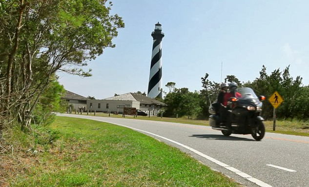 "The tallest brick lighthouse in the United States the Cape Hatteras Lighthouse was built to protect ships along ""The Graveyard of the Atlantic."""