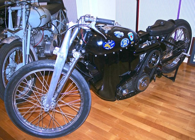 A supercharged Vincent land speed record bike? Of course, why not?