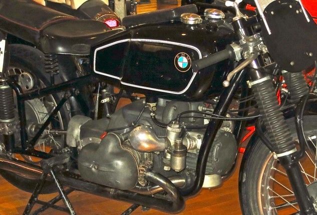 Another approach to supercharging. BMW won the 1939 Isle of Man TT with this Boxer. Carburetors are mounted on the blower.