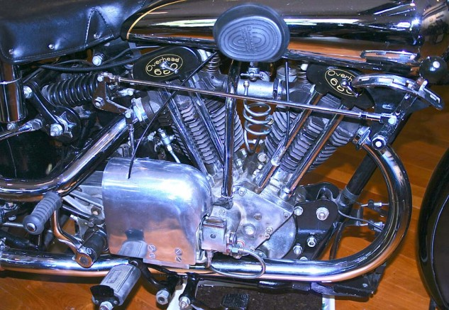 The 1932 Brough Superior had a 680cc V-twin, little brother to the fabled SS100. Before the arrival of the Vincent V-Twin in 1936, George Brough's machines ruled the road.