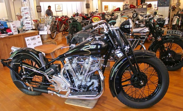 Among American road burners of the 30s, the Crocker was a top contender. It was lighter and faster than the Harley Knucklehead, but production only reached about 100 examples.