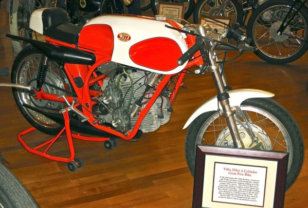 Francesco and Walter Villa built a square-Four 250cc 2-stroke in the mid-sixties, just before the FIM limited the class to Twins.