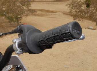 One minor change for 2015 is an easier throttle pull, courtesy of a lighter throttle return spring. It wasn't readily apparent at the track, but it should help to reduce rider fatigue during a long moto.