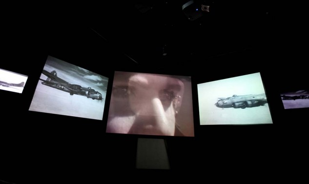 The Mission Experience at the Mighty Eighth Air Force Museum uses original footage to simulate a bombing run over Europe.