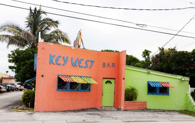 One of the many colorful businesses that line A1A.