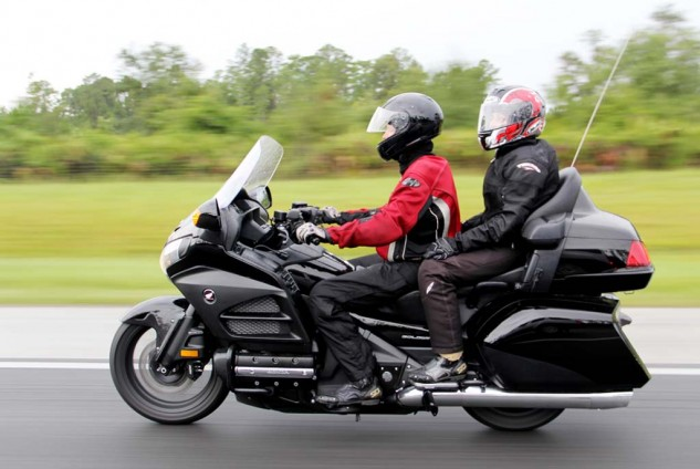 Photo by Kendra Cowger. Full gear. Only comfortable at interstate speeds in central Florida in July.