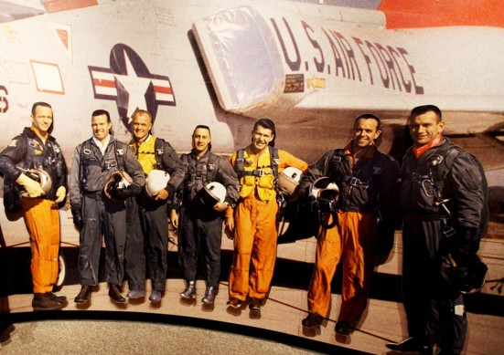 """Photo by Holly MarcusAmerica's first astronauts, the """"right stuff"""" guys."""