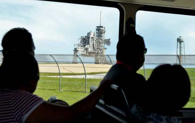The Kennedy Space Center offers a bus tour of its grounds, including their many launch pads.