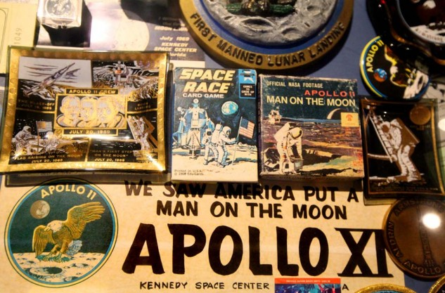 Memorabilia from the Apollo missions at the Astronaut Hall of Fame.