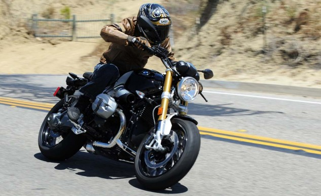 The nineT's power and handling will easily dust any Triumph Bonneville or Thuxton. It's also priced considerably higher.