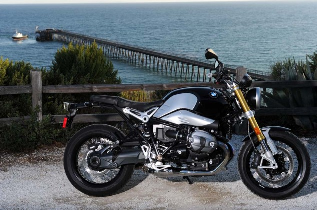 The R nineT strikes an alluring pose. It's smaller and more beautiful than it looks in pictures.