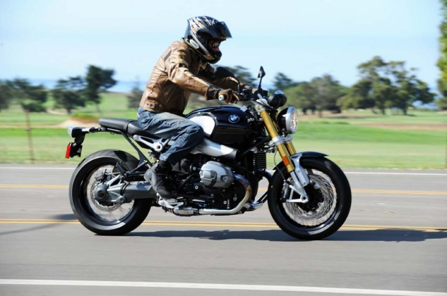The nineT's riding position is leaned forward further than expected, but the overall ergonomics are quite functional.