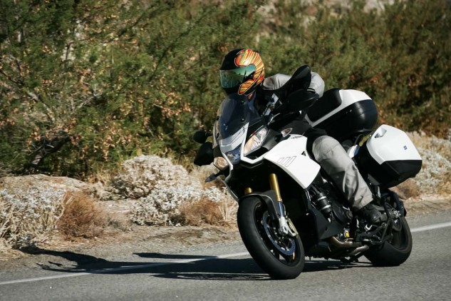 In the context of this group, the Capo is the comfy, more touringish bike, similar to how we rated the Triumph Trophy in our Heavyweight Sport-Touring Shootout.