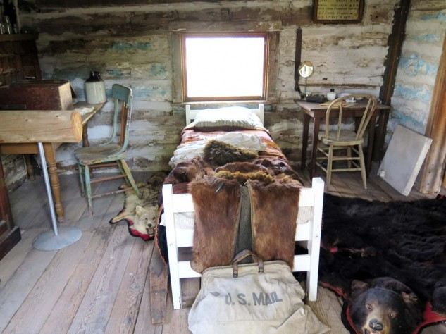Accommodations are always up to date in Nebraska. I kid. This is an original Ft. McPherson barracks, on site at the Lincoln County Museum.