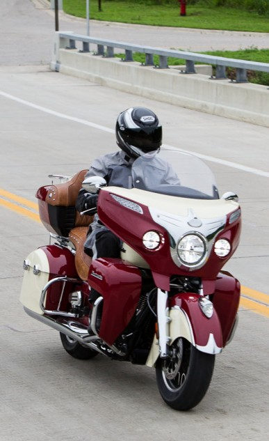 The new windshield is ¾ in. lower but with a flatter curve at the top improving rider/passenger weather protection.