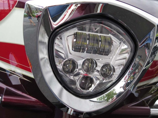 A bright new LED light should brighten things up after dark. The CC already had a big, bright LED taillight.