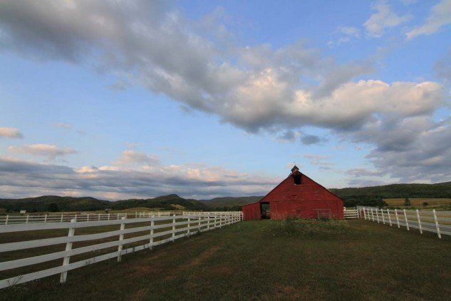 Typical West Virginia barn and sky.