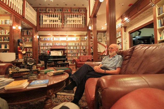 Dr. David Bennet in his research and reading library. Open to the guests.