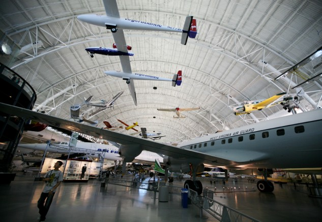 Experimental, commercial and military aviation on display at the Udvar-Hazy Center.