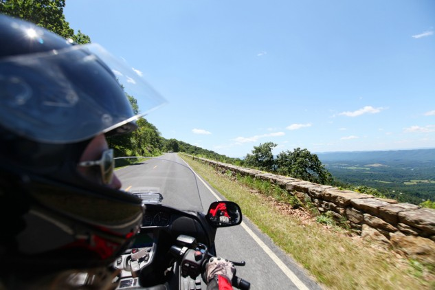 Over 1,000 feet above the Shenandoah Valley below, overlooks on the Skyline Drive afford a birds-eye view similar to what one would get from an airplane.