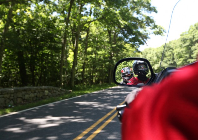The Gold Wing provides a comfortable, power platform for two-up touring on the Skyline Drive.