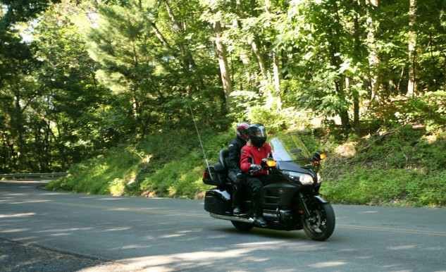 Photo by Matt Armstrong. Comfortable seating and plenty of power for two-up riding is what has kept the Gold Wing line around for nearly four decades.