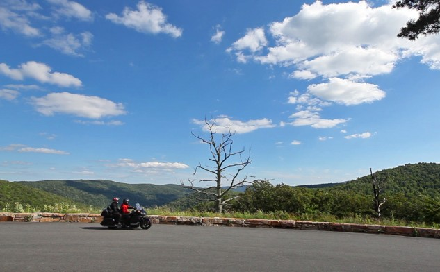 The Skyline Drive, 105 miles of curvy roads, gorgeous views and blue sky.