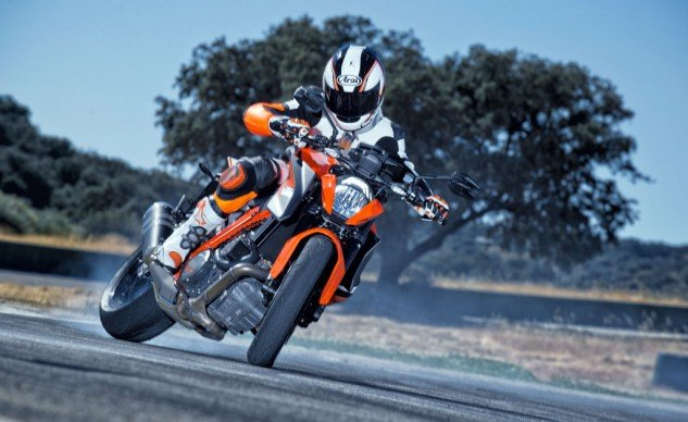 KTM's website isn't afraid to show you exactly what the Super Duke R is meant to do.