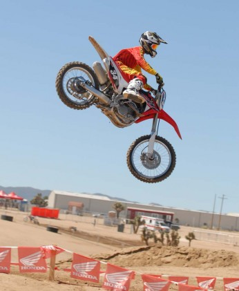 With its excellent chassis, the CRF250R is a hoot when subjected to aerial mischief.