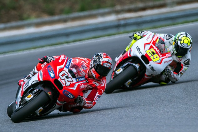 The two Andreas, Dovizioso and Iannone, demonstrated the improvements Ducati made during weeks since Indianapolis.