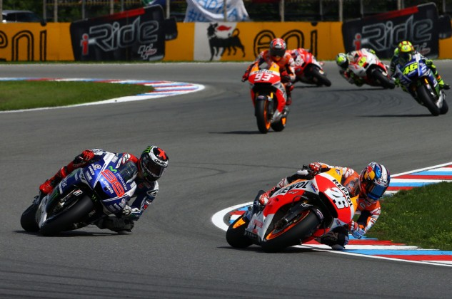 It has been a long time since we saw Dani Pedrosa and Jorge Lorenzo battling to finish one-two.