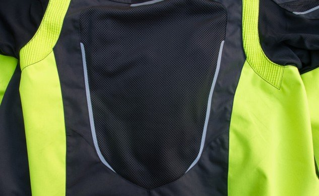The mesh covers a large percentage of the jacket's back and passes an impressive amount of air.