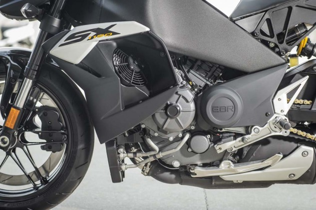 The 1190cc 72-degree V-Twin is a torque lover's dream. However, the cooling fans on either side will blow heat right towards your knees. Nice on cool rides, not so pleasant otherwise.